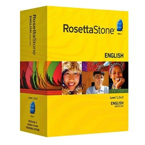 Rosetta Stone English (American) Level 1, 2, 3 Set