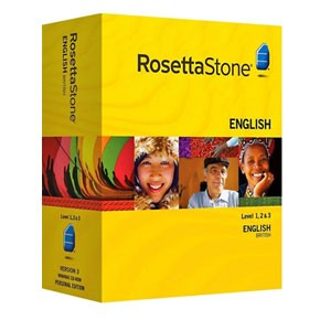 Rosetta Stone English (British) Level 1, 2, 3 Set